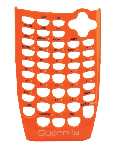 Guerrilla Orange Faceplate For Texas Instruments TI 84 Plus C Silver Edition Color Graphing Calculator