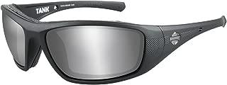 Harley-Davidson Men's Tank Sunglasses, Silver Flash Lens/Black Frame HDTAN02