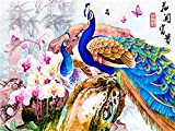 5D diy pintura diamante Niños adulto regalo Punto De Cruz Rhinestone Mosaico Decoración Del Hogar Animal de artesanía de pavo real -Arte de costura -40x30cm