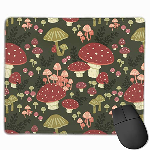Mushrooms Mouse Pad 11.8 X 9.8 Inch Mouse Mat Non-Slip Rubber Base Gaming Mousepad Waterproof Office Home Mouse Pad (25x30cm)