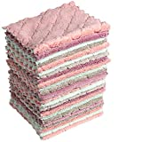 LavieenJ 24pack Kitchen Towels and Dishcloths Set, Microfiber Cleaning Cloth, Kitchen Cloth, Dish Towels, Dusting Rags, Washcloth, Face Hand Towel - Ultra Absorbent and Lint Free