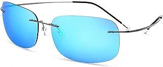 Glasses Titanium Driver Driving Sunglasses Men's Ultra Light Frameless Polarizer Female UV400 Protection Screwless Square Sunglasses Fashion