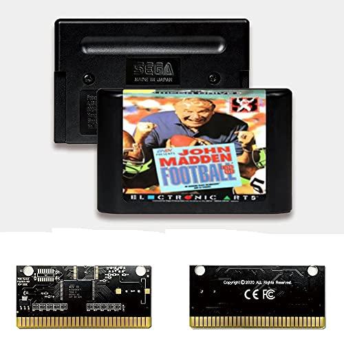 Yuva John Madden Football '93 EUR Label Flashkit MD Electroless Gold PCB-Karte für Sega Genesis Megadrive Videospielkonsole (PAL-E)