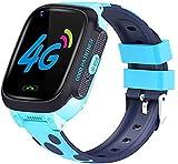 HANDA Y95 Full Touch Screen 4G Video Call Waterproof WiFi Antil-Lost SIM GPS Location Tracker Children Smart Watch for Kids (Blue)