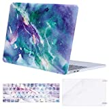 MOSISO MacBook Pro 13 inch Case 2019 2018 2017 2016 Release A2159 A1989 A1706 A1708, Plastic Pattern Hard Shell & Keyboard Cover & Screen Protector Compatible with MacBook Pro 13, Galaxy Marble