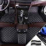 Handao-US Alfombrillas en Velour para Audi RS5 8T 2010-2015 Alfombrillas de Coche Moqueta para Coche Negro Beige