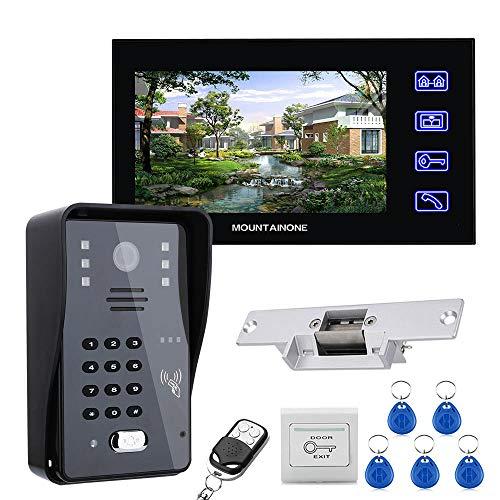 Timbre de video, sistema de intercomunicador de videoportero con pantalla LCD de...