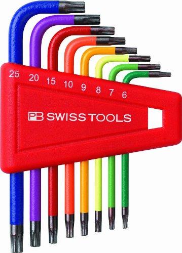 PB Rainbow Torx Key L-wrench Set (T6-T25)