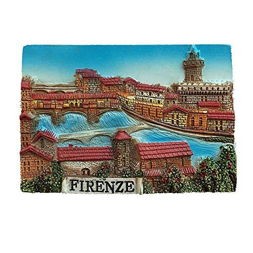Firenze Firenze Italia Calamita frigo 3D, decorazione casa e cucina adesivo magnetico, Firenze Firenze magnete frigorifero viaggio souvenir regalo
