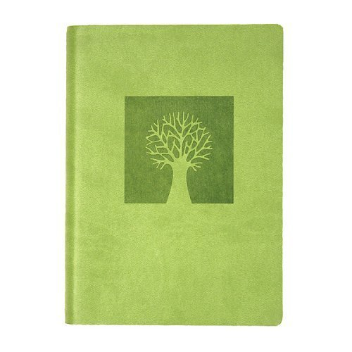 "Eccolo World Traveler Essential Collection Journal, 5 x 7"", Green - Tree of Life (D303C)"
