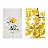 JUNIQE® Poster-Set - Gelb & Blau - Poster & Prints für