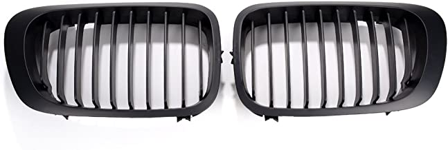 Front Hood Kidney Luxury Grill Grille Snap-on For 1999-2002 E46 Coupe Cabriolet Pre-facelift (1999-2002, Matte Black)