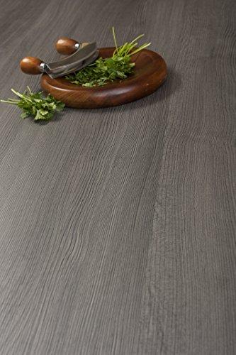 WORKTOPEXPRESS Dunkles Holz - Resopal Küchenarbeitsplatten (Umleimer 1.32m × 40mm)