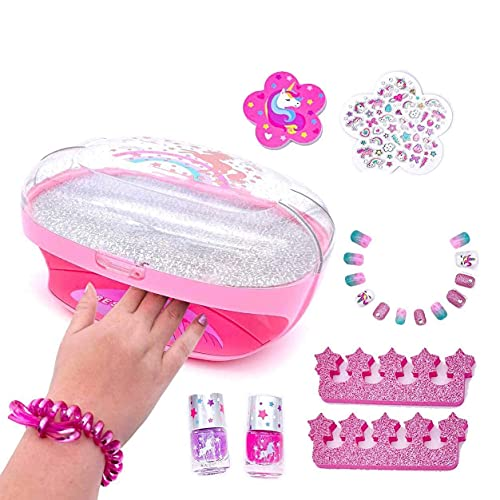 Kids Nail Polish Set for Girls with Dryer -...