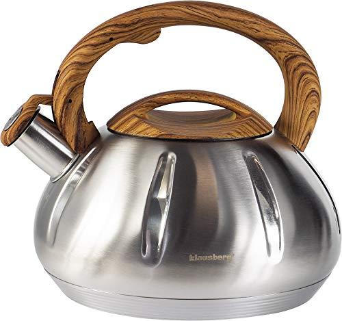 Hochwertiger Wasserkocher mit Pfeife 3 Liter aus hochwertigem Edelstahl