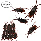 Realistic Cockroaches Fake Prank Roaches for Joke Trick Halloween April Fool 's Day Party Look Real Toys (100 pcs)