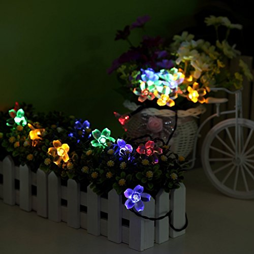 Esamconn®Solar Fleur Fleur Feux Outdoor Fée 7M 50LEDs Blossom pour Jardin, Patio, Chemin, Eclairage de Noël, Intérieur, Party & More (Multi-coloré)