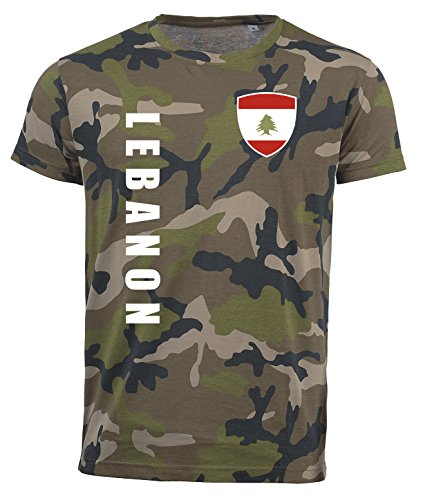 aprom Libanon T-Shirt Camouflage Trikot Look Army Sp/A (M)