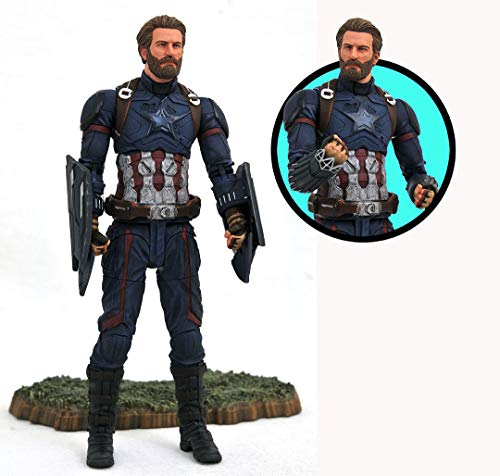 DIAMOND SELECT TOYS Marvel Avengers Infinity War Captain America Action Figure, Model:APR182168 image
