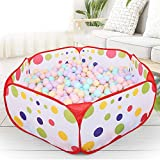DBSUFV Polka Dot Pattern Plegable Baby Kids Play House Carpa Carpa de Baloncesto Niños Outdoor & Indoor Sports Play Toys