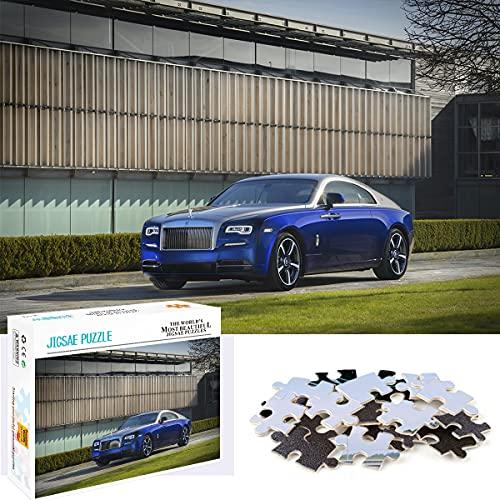 Teen Jigsaw Puzzle 1000 Piezas - British Luxury Business Car - Rompecabezas De Madera 1000 Piezas Divertidos Juegos Familiares Regalos A Amigos