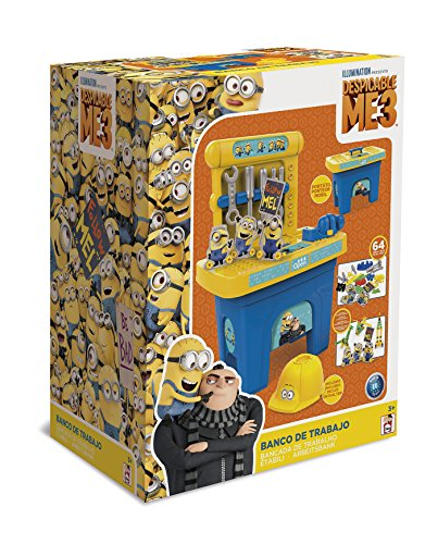 Gru: Mi Villano Favorito GRU: Mi Villano Favorito-12067 Banco de Trabajo, Multicolor (Fábrica de Juguetes 12067.0)