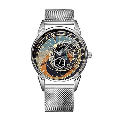 Mode wasserdicht Uhr minimalistischen Persönlichkeit Muster Uhr -046. astronomische Uhr in Praque