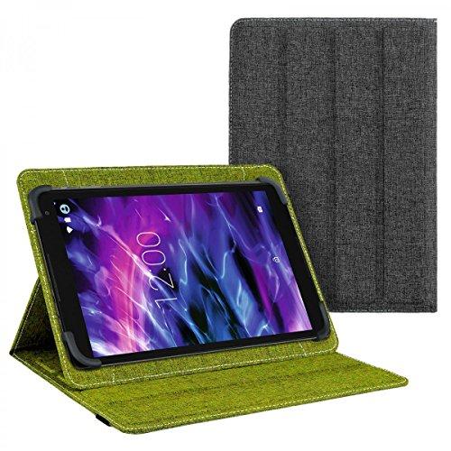eFabrik Cover für Medion Lifetab P10506 | P10505 Tasche Schutz Case Schutzhülle Schutztasche grün grau