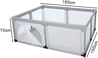 MJY Safety Fence Playpens Home Indoor Kids Playards  Large Children Activity Centre for Boy Girl  180X150X70Cm Style2