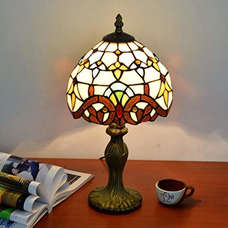 GJH-TISCHLAMPE Europische kreative 8-Zoll-Buntglas-Tischlampe mit dekorativer Beleuchtung
