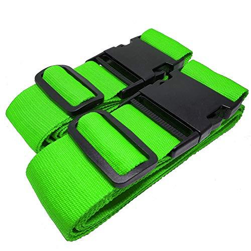 MONVENDO Koffergurt/Kofferband Kofferstyle 200 cm 2-teilig Grün