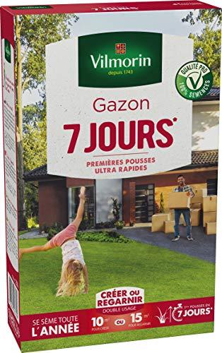 Vilmorin Gazon 7 Jours Boite 250 g, Vert