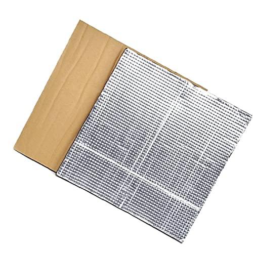LAANCOO Plataforma Caliente Cama de Aislamiento semillero de la Impresora térmica Pad de Aislamiento Estera de la Espuma 3D con calefacción Cama Aislamiento Térmico algodón 2 Piezas de Plata D