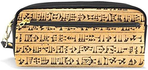Geldbörse Bleistift Federmäppchen Piktogramm Doppelreißverschluss große Make-up Kosmetik Schreibwaren Aufbewahrungstasche Tasche Mädchen Jungen Frauen