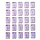 Piedras de runas de Cristal 25 Piezas Pulido y rotulación - Cuarzo Rosa de Piedra en Tambor con el Regalo Espiritual del Alfabeto de la Runa de Símbolo de Reiki curación de Cristal