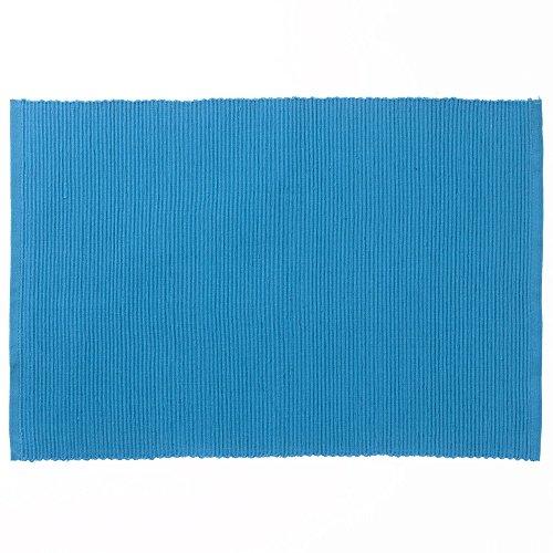 kela Tisch-Set Pur 48x33cm aus Baumwolle in eisblau, 48 x 30 x 1 cm