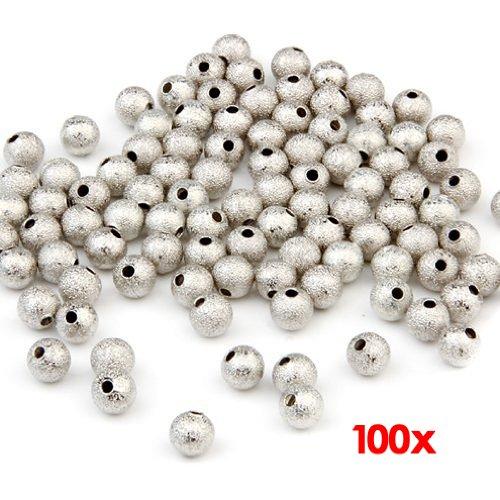fitTek 100 Perline Perle Sfere smerigliato 6mm per BIGIOTTERIA