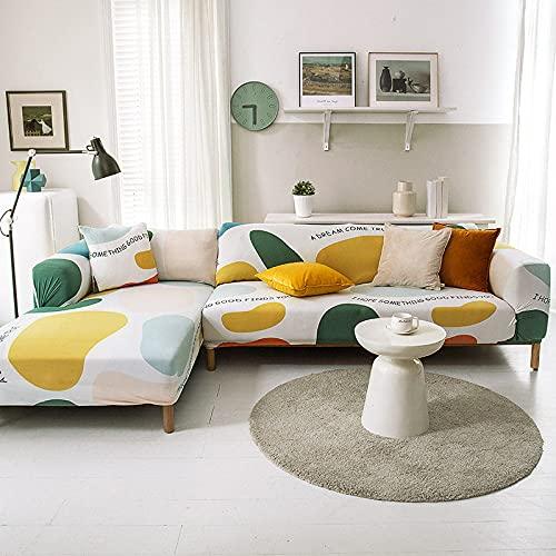 PPOS Funda de sofá Moderna Spandex Poliéster elástico Floral Sofá Funda para Silla Sala de Estar Sofá de Esquina Fundas C1 45x45 Funda de almohada-1pc