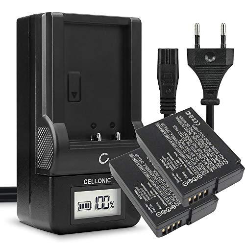 CELLONIC Batería Recargable DMW-BLD10 Compatible con Panasonic Lumix DMC-G3 Lumix DMC-GX1 Lumix DMC-GF2 Lumix DMC-ZS7 Lumix DMC-TS2, 850mAh + Cargador DMW-BLD10 bateria de Repuesto