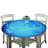 LLPZ Rundes Tischtuch Polyester Technologie Farbe Schöne Lässige Essenszubehör 140Cm Durchmesser