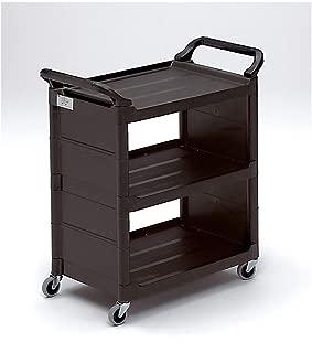 Rubbermaid - FG342100BLA - 33-5/8L x 18-5/8W Black Polypropylene Enclosed Service Cart, 150 lb. Load Capacity