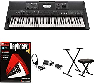 Yamaha PSR-E463 Essential Keyboard Bundle