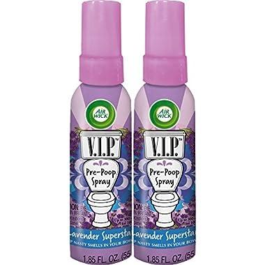 Air Wick V.I.P. Pre-Poop Spray, Lavender Superstar, 2ct (2X1.85oz)
