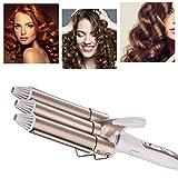 Pinzas Rizadoras, Rizador de pelo, Tenacillas de Pelo, Cerámica de la Turmalina de 3 Barriles Rizador, Iron Wave Curler Multifunción Temperatura Ajustable para rizar y ondas un efecto ondulado