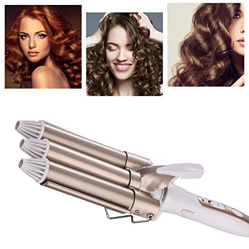 Lockenstab, Three Dreifache Fässer Lockenstab Haarwickelzange Hair Waver Pearl Waving Lockenwickler, Für Lange kurze Haare Drei Curling Iron