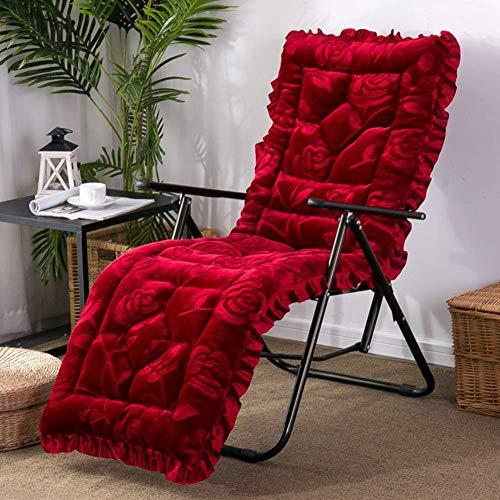 XHNXHN Cojines para mecedora, Cojín de Banco de felpa Multifunción Espesar Muebles de Patio Sofá Matt Mat de mimbre Lounge Chair Cojines - Rojo C 48x148cm