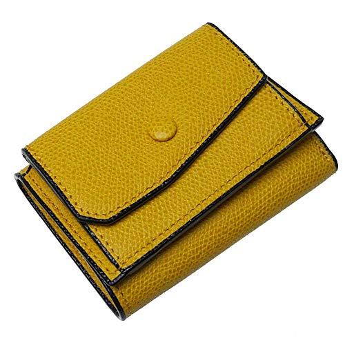 [VALEXTRA(ヴァレクストラ)] 三つ折りレザー財布(小銭入れ付き) V8L26 028 メンズ (イエロー(JO)) [並...
