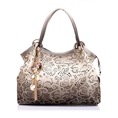 Realer Women's Handbag Tote Purse Shoulder Bag Pu Leather Fashion Top Handle Designer Bags for Ladies