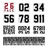 HTVRONT Iron on Letters for Clothing, 280 Pieces Iron on Letters & 78 Pieces Iron on Numbers for Jerseys & Heat Transfer Numbers Kit 0 to 9 for T Shirts (4 Multi-Sizes)