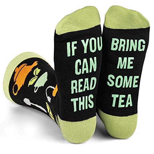 Lavley - Mens Novelty Socks - Funny Novelty Dress Socks For Men and Women (Tea)
